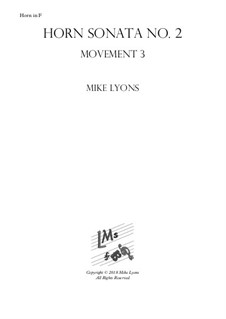 Horn Sonata No.2: 3rd. Movement - Allegro vivace by Mike Lyons