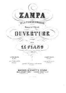 Zampa, ou La fiancée de marbre: Ouvertüre, für zwei Klaviere, achthändig – Klavierstimme II by Ferdinand Herold