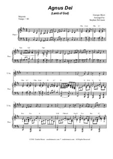 Agnus Dei: Duet for soprano and tenor saxophone by Georges Bizet