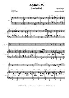 Agnus Dei: Duet for C-instruments by Georges Bizet