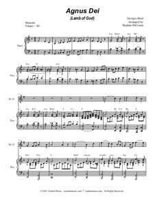Agnus Dei: Duet for flute and Bb-clarinet by Georges Bizet