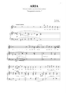 Aria 'Insegnatemi a morire...': Für Stimme und Klavier by Pietro Antonio Cesti