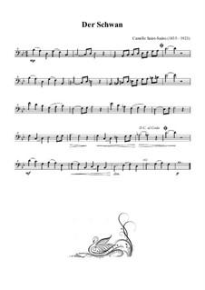 Der Schwan: Für Bassblockflöte by Camille Saint-Saëns