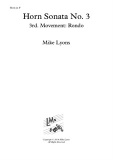 Horn Sonata No.3: 3rd. movement: Rondo - Presto by Mike Lyons