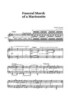 Trauermarsch einer Marionette: Für Klavier Solo by Charles Gounod