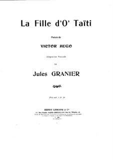 La fille d'o' Taïti: La fille d'o' Taïti by Jules Granier