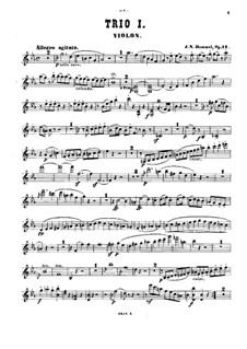 Klaviertios, Op.12, 22, 35, 65, 83, 93, 96: Violinstimmen by Johann Nepomuk Hummel