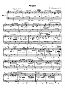 Nr.35 Mignon: Für Klavier by Robert Schumann