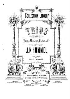 Klaviertrios, Op.12, 22, 35, 65: Klaviertrios by Johann Nepomuk Hummel