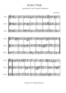 Luft für 3 Viols: Luft für 3 Viols by Unknown (works before 1850)