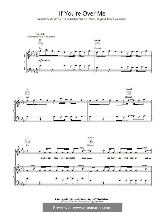 If You're Over Me (Years & Years): Für Stimme und Klavier (oder Gitarre) by Steve Mac, Mark Ralph, Olly Alexander