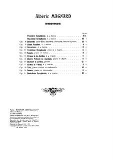 Quintett für Klavier und Blasinstrumente in d-Moll, Op.8: Vollpartitur by Albéric Magnard
