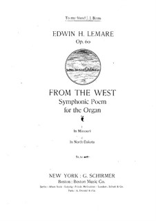From the West. Symphonic Poem: From the West. Symphonic Poem by Edwin Lemare