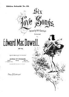 Sechs Liebeslieder, Op.40: Vollsammlung by Edward MacDowell