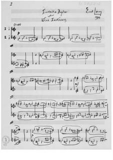 Inventio dupla für Blasinstrumente: Inventio dupla für Blasinstrumente by Ernst Levy