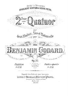 Streichquartett Nr.2 in A-Dur, Op.37: Vollpartitur by Benjamin Godard
