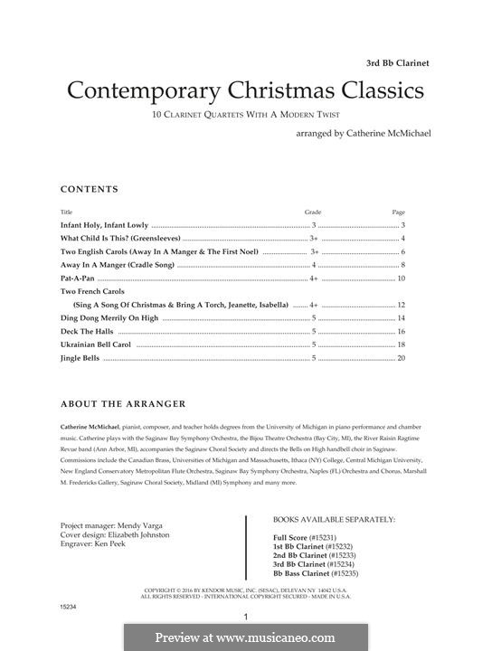 Contemporary Christmas Classics: 3rd Bb clarinet by folklore