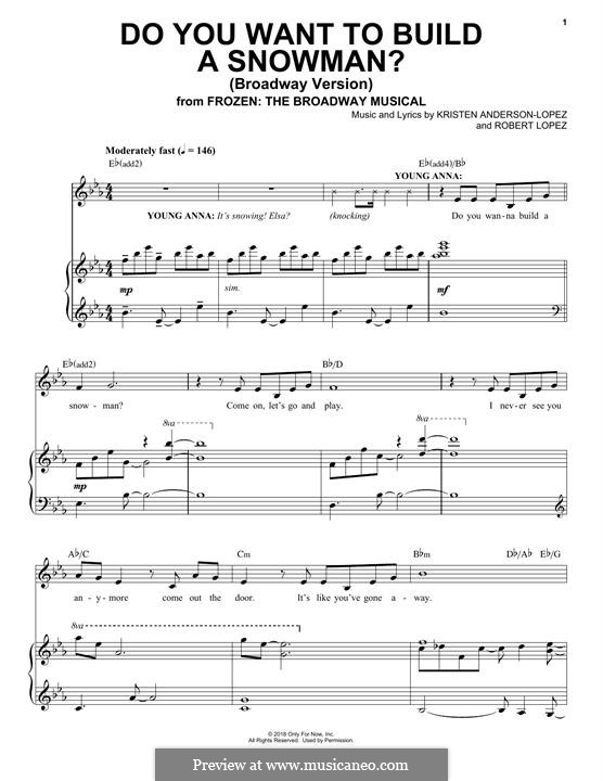 Frozen: The Broadway Musical: Do You Want To Build A Snowman? by Robert Lopez, Kristen Anderson-Lopez