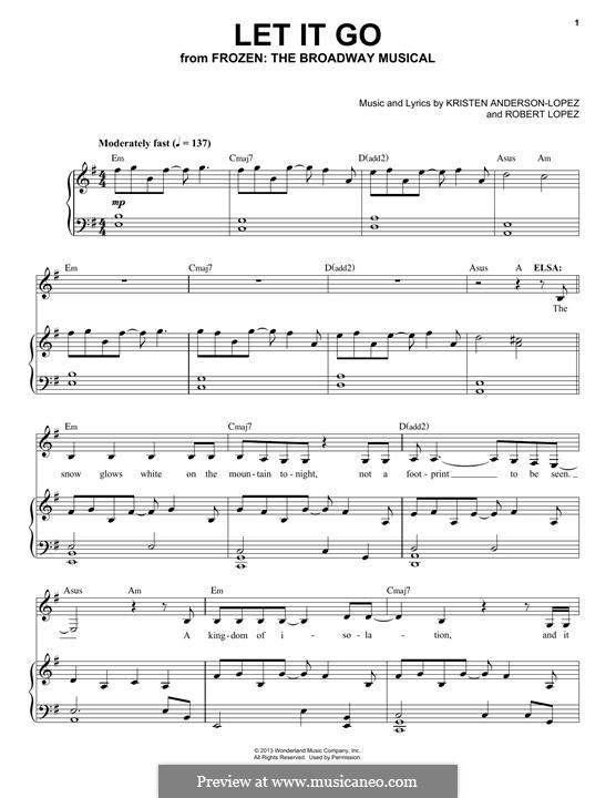 Frozen: The Broadway Musical: Let It Go by Robert Lopez, Kristen Anderson-Lopez