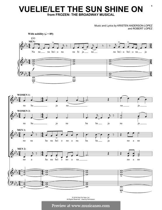 Frozen: The Broadway Musical: Vuelie / Let The Sun Shine On by Robert Lopez, Kristen Anderson-Lopez
