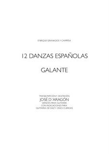 Zwölf Spanische Tänze: Dance Nr.1, für Gitarre by Enrique Granados
