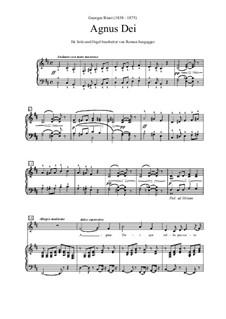 Agnus Dei: Solo und Orgel (oder Klavier), D-Dur by Georges Bizet