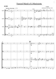 Trauermarsch einer Marionette: For tuba-euphonium quartet by Charles Gounod