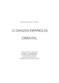 Zwölf Spanische Tänze: Dance Nr.2, für Gitarre by Enrique Granados
