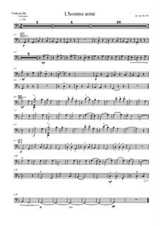L'homme armé: Für Cello und Klavier – Cellostimme by Unknown (works before 1850)