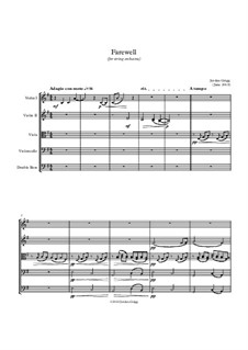 Farewell (for string orchestra): Farewell (for string orchestra) by Jordan Grigg