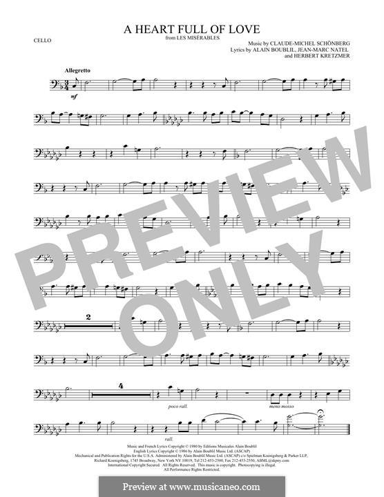 A Heart Full of Love: Für Cello by Claude-Michel Schönberg