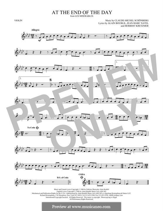 At the End of the Day: Für Violine by Claude-Michel Schönberg
