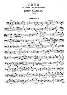 Streichtrio in D-Dur, Op.12: Cellostimme by Ernst Naumann