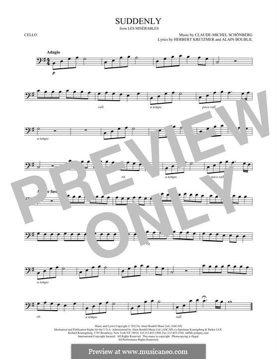 Suddenly: Für Cello by Claude-Michel Schönberg
