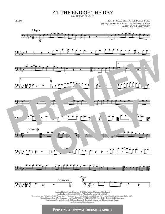 At the End of the Day: Für Cello by Claude-Michel Schönberg