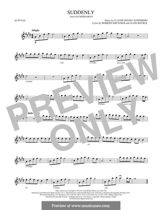 Suddenly: Für Altsaxophon by Claude-Michel Schönberg