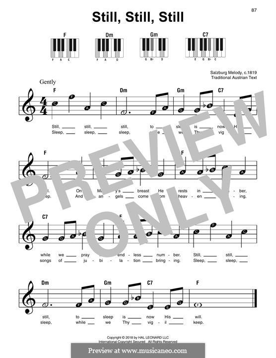 Still, Still, Still: Für Klavier, leicht by folklore