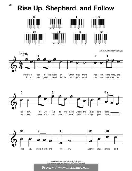 Rise Up, Shepherd, and Follow: Für Klavier, leicht by folklore