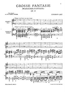 Fantasie für Klavier in C-Dur 'Wanderer', D.760 Op.15: Für zwei Klaviere, vierhändig by Franz Schubert