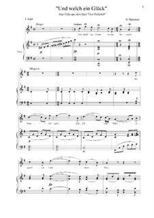 Der Holzdieb: Und welch ein Glück. Aria Felix by Heinrich Marschner