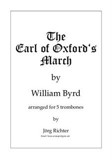 The Earl of Oxford's March: Für 5 Posaunen by William Byrd