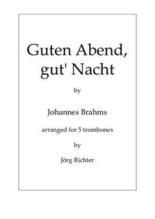Nr.4 Wiegenlied: Für 5 Posaunen by Johannes Brahms