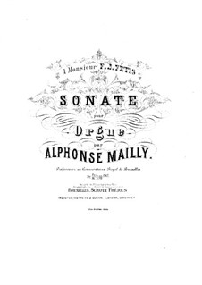 Sonate in d-Moll, Op.1: Sonate in d-Moll by Alphonse Jean Ernest Mailly
