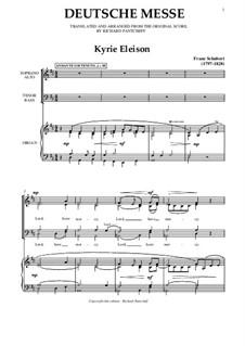 Deutsche Messe: Deutsche Messe by Franz Schubert
