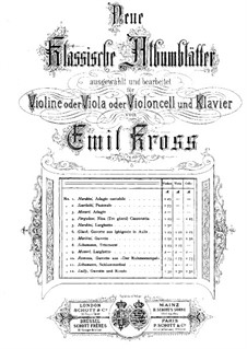 Gavotte: For violin (or viola, or cello) and piano by Giovanni Battista Martini