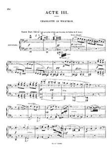 Werther: Akte III-IV. Bearbeitung für Klavier, vierhändig by Jules Massenet