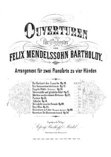 Die Heimkehr aus der Fremde, Op.89: Ouvertüre, für zwei Klaviere, vierhändig – Klavierstimme I by Felix Mendelssohn-Bartholdy