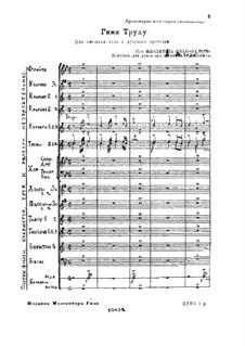 Hymne an die Arbeit, Op.59: Hymne an die Arbeit by Michail Ippolitow-Iwanow