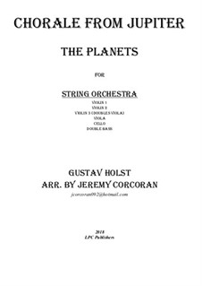 Jupiter: Chorale, for string orchestra by Gustav Holst
