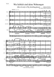 Ein deutsches Requiem, Op.45: Movement IV, for flute quartet and organ by Johannes Brahms